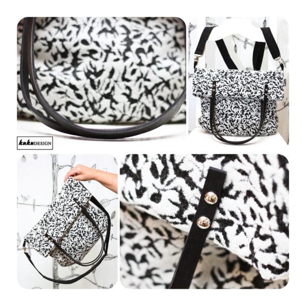 květovaná kabelka - taška