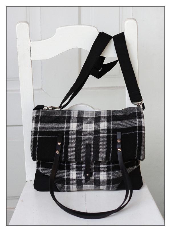 kukudesign kostkovaná taška