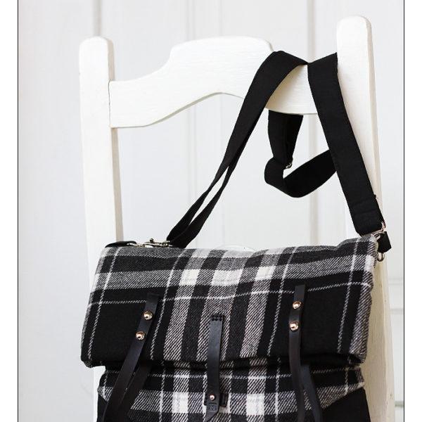 kukudesign kostkovaná kabelka
