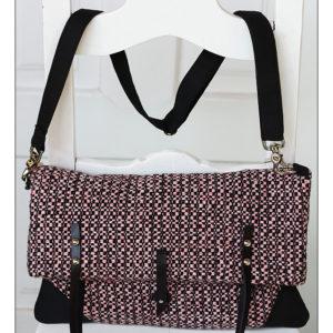 šedorůžová kukudesign kabelka